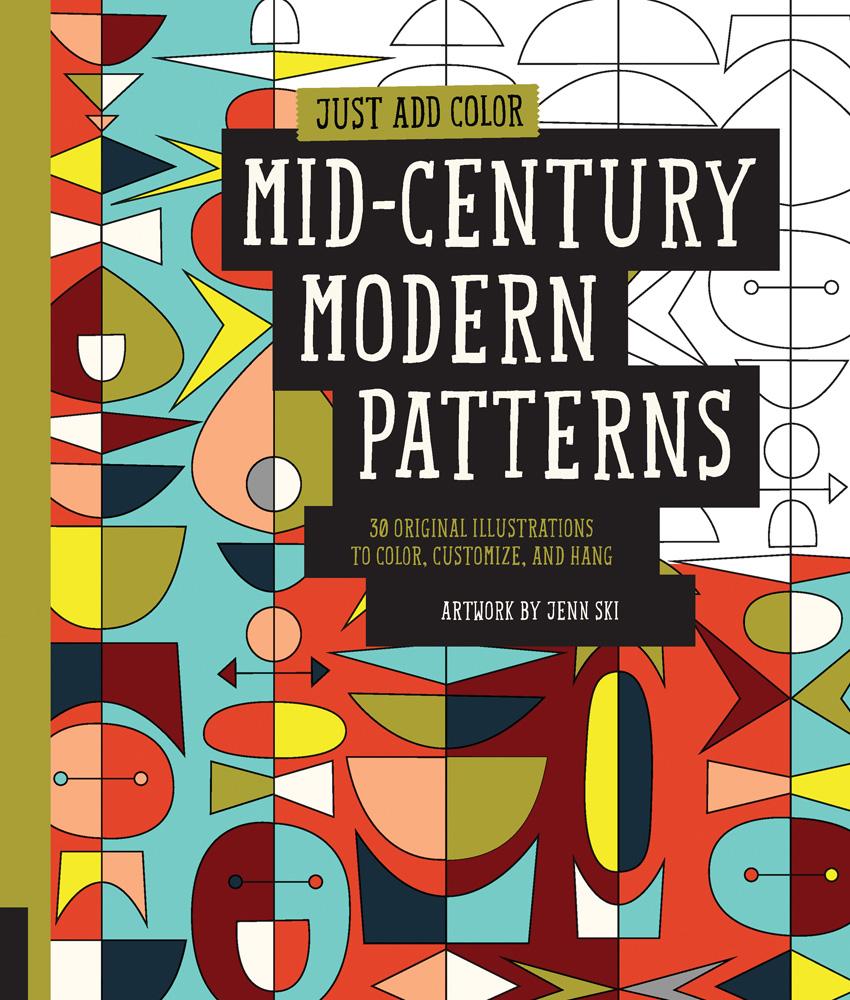 just add color mid century modern patterns add midcentury modern style