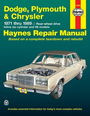 Dodge, Plymouth and Chrysler RWD, 1971-1989