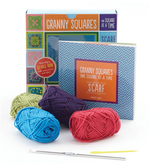 Granny Squares, One Square at a Time / Scarf Kit
