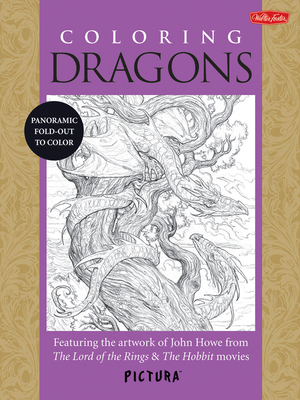 Coloring Dragons Featuring the artwork of John Howe from The Lord of the Rings & The Hobbit movies