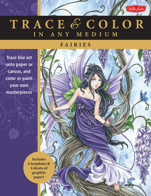 Fairies Trace line art onto paper or canvas, and color or paint your own masterpieces