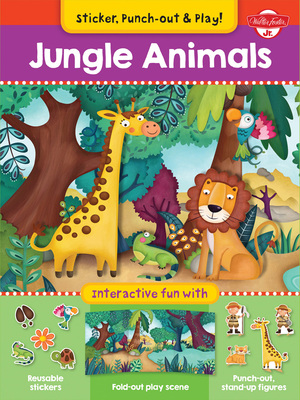 Jungle Animals Interactive fun with fold-out play scene, reusable stickers, and punch-out, stand-up figures!