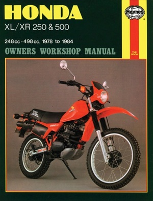 Honda XL/XR 250 and 500 Owners Workshop Manual