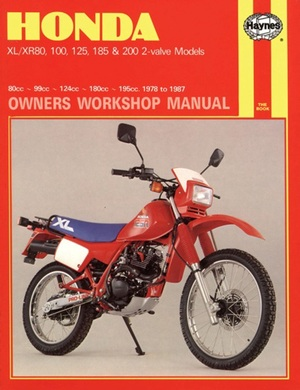 Honda XL-XR 80, 100, 125, 185 and 200 Owners Workshop Manual, No. M566