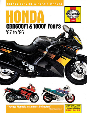 Honda CBR600F1 and 1000F Fours, 1987 - 1996