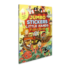 Jumbo Stickers for Little Hands: Funny Faces
