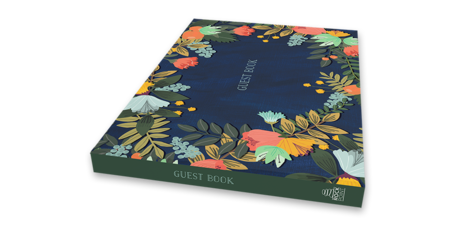 Guest Book Modern Floral Edition