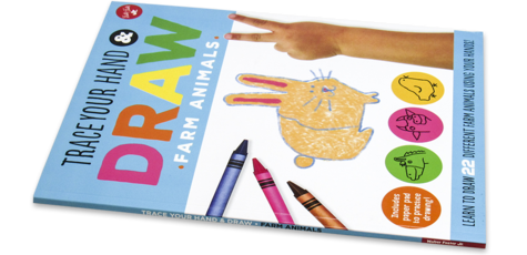 Trace Your Hand & Draw: Farm Animals
