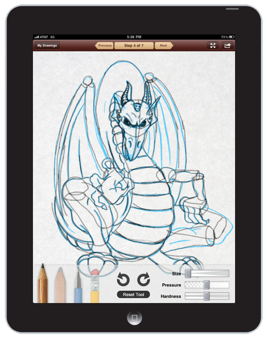 New iPad App: Learn to Draw Digital Sketchbook by Walter Foster