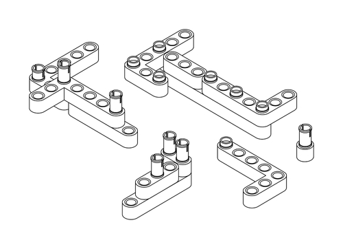 Raspberry Pi Lego Technic Case Step 4