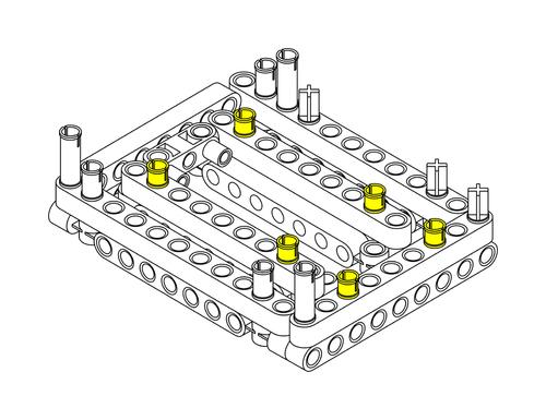 Raspberry Pi Lego Technic Case Step 1