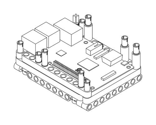 Raspberry Pi Lego Technic Case Step 2