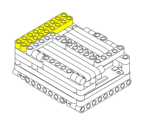Raspberry Pi Lego Technic Case Step 7
