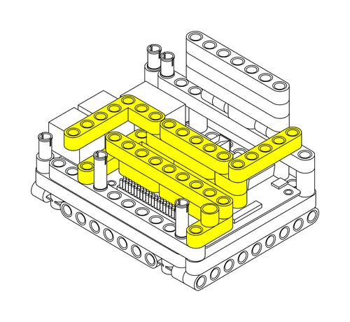 Raspberry Pi Lego Technic Case Step 5