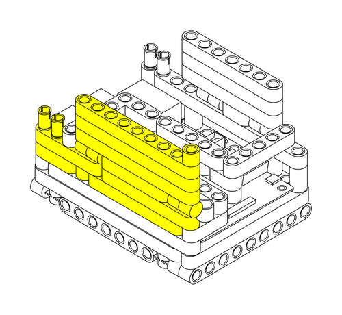 Raspberry Pi Lego Technic Case Step 6