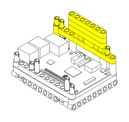 Raspberry Pi Lego Technic Case Step 3
